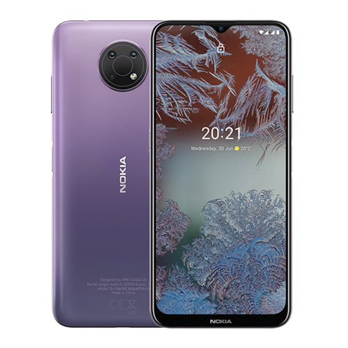 Nokia G10 front Display Purple Back