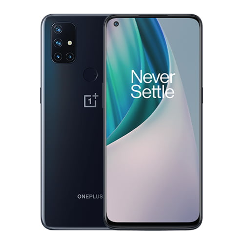 Oneplus Nord N10 front and black back