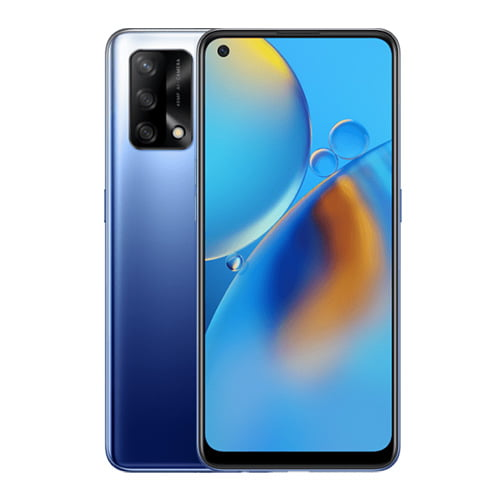 OPPO F19 front display Plus blue back