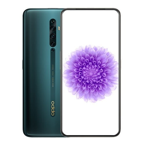 OPPO Reno2 F front Display and Green back