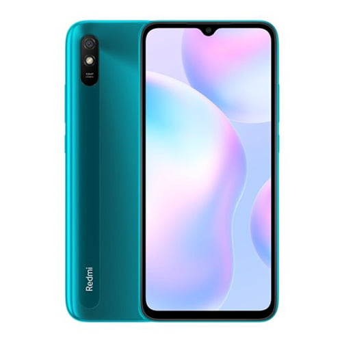 Xiaomi Redmi 9A Front Display and Green Back