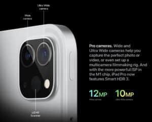 iPad Pro 11 (2021) camera