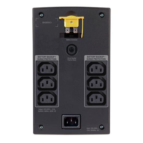 APC Back-UPS 800VA, 230V, AVR, Universal and IEC Sockets Ports