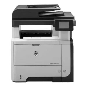 HP LaserJet Pro MFP M521dw Front Display Black and Gray