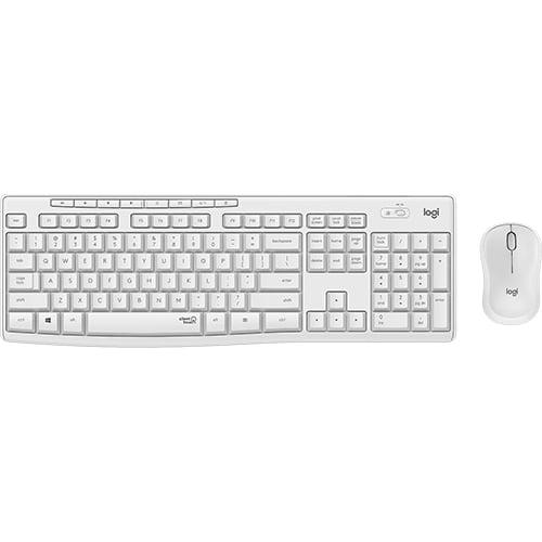 Logitech MK295 Silent Wireless Keyboard and Mouse Combo White