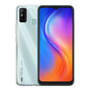 Tecno Spark 6 Go Display Front and Back; Mystery White