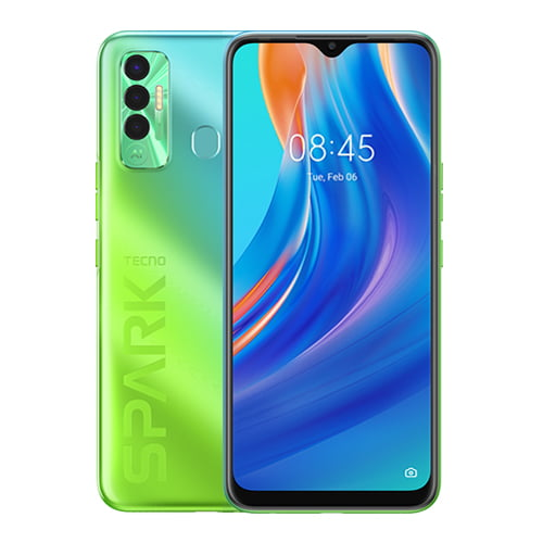 Tecno Spark 7P, Front and Back Display; Spruce Green