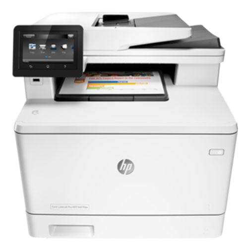 HP Color LaserJet Pro MFP M477fdw Wireless Printer Front Display